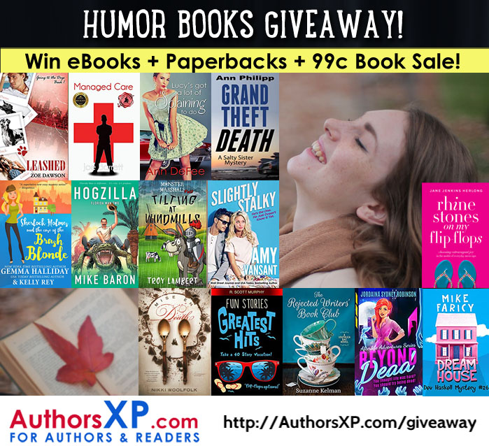 Enter to Win a giveway of 20 Humor eBooks!